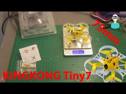 KINGKONG TINY7 75mm Micro FPV Quadcopter - Unboxing, Review & Test Flight