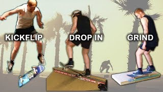 Learn to Skateboard in 1 Month (Ollie, Kickflip, Drop In, Grind) || Max's Monthly Challenge
