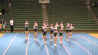 Jenison 8th Grade Competitive Cheer Round 1 Floor routine 12/11/10 at Jenison