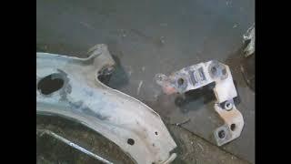 замена передних тормозных колодок и ремонт передних рычагов альбеа +кат№