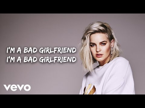 Anne-Marie - Bad Girlfriend (Lyric Video)