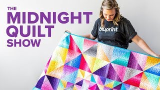 Stress Relieving Half-Square Triangle Quilt | S7E5 Midnight Quilt Show With Angela Walters