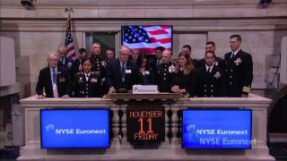11 November 2011 U.S. Marine Corps ring the NYSE Opening Bell