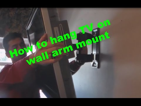 How to hang TV on wall arm mount review
