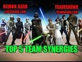 Star Wars Galaxy of Heroes: Top 5 Team Synergies - SWGOH - Remon Azab TeamSkunk