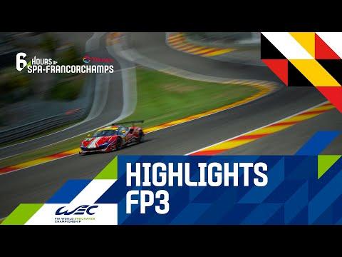2020 WEC スパ・フランコルシャン6時間耐久レース フリープラクティス3のハイライト動画
