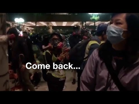 """""""Come back"""": Families, school staff persuade teenage protesters to leave"""