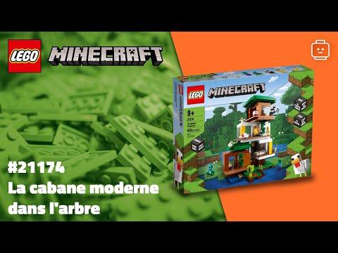Vidéo LEGO Minecraft 21174 : La cabane moderne dans l'arbre