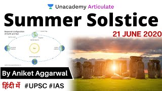 Summer Solstice 2020: The Longest Day of The Year | Current Affairs 2020 | By Aniket Aggarwal | UPSC