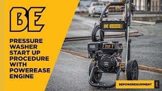 Powerease Engine Pressure Washer Start-Up