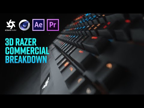 Cinema 4D Tutorial – Razer Blackwidow Chroma in Octane Render, Premiere Pro & After Effects