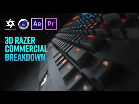 Cinema 4D Tutorial – Razer Blackwidow Chroma in Octane Render, Premiere Pro  & After Effects