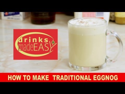 Video How To Make Traditional Christmas Eggnog-Drinks Made Easy