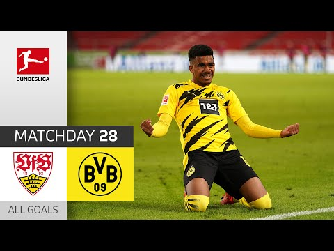 Knauff's debut brings BVB victory! | Stuttgart – Dortmund | 2:3 | All Goals | MD 28 – BuLi 2020/21