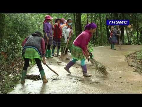 xã Quan Hồ Thẩn tổ chức vệ sinh môi trường nông thôn năm 2021