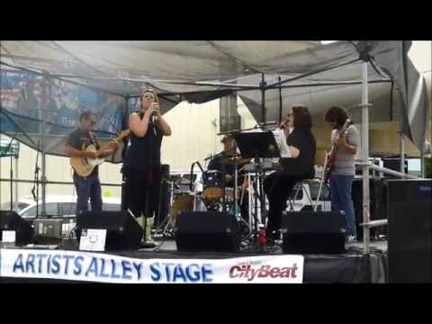 """Tori Roze and The Hot Mess LIVE @ OB Street Fair 2014 performing """"Smells Like Teen Spirit"""" by Nirvana."""