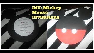 Vlogtober  Day 12: DIY Mickey Mouse Invitations