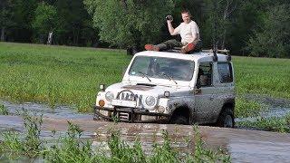 Офф роад драг рейсинг в болоте. Suzuki Escudo против Kia Retona.