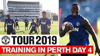 Manchester United   Tour 2019   Training In Perth Day 4   Lingard, De Gea, Rashford