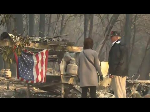 With More Than 1,000 People Unaccounted For, Trump Visits California Fire Zones   NBC Nightly News