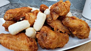 Street Food Recipe | Korean Fried Chicken | Delicious Crispy Chicken And Rice Cakes