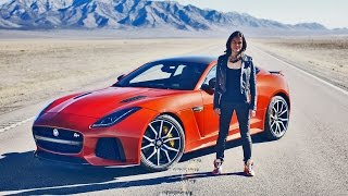 Michelle Rodriguez drives 200 MPH Jaguar F-TYPE SVR