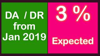 Expected DA from Jan 2019 - DA/DR for Central Govt Employees & Pensioners