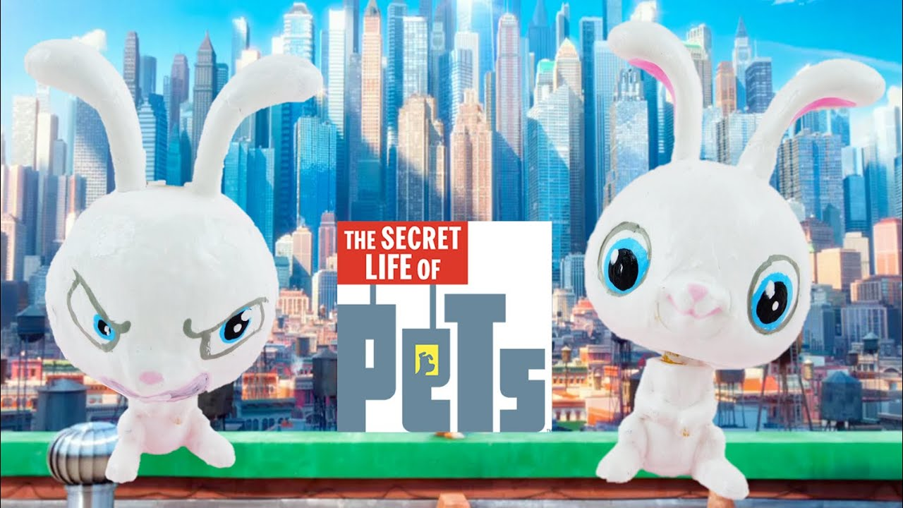DIY Cute and Angry Face Snowball Custom Tutorial - The Secret Life of Pets