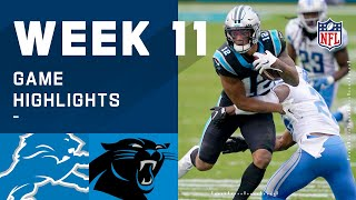 Lions vs. Panthers Week 11 Highlights | NFL 2020