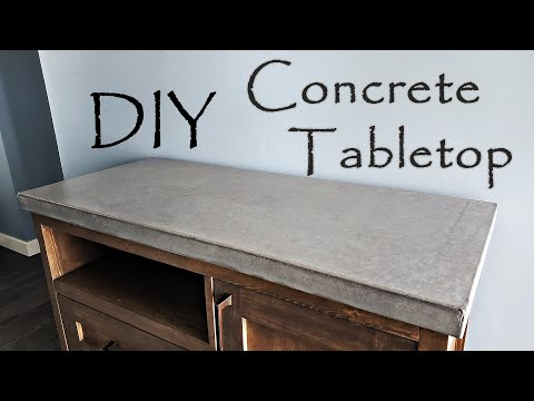 Beginners guide, Concrete Tabletop you can build. No special tools, hand finished