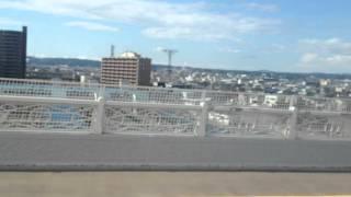青森観光バス「ねぶたん号」前面展望車窓[1/2]青森駅→青森港FT/青森941発