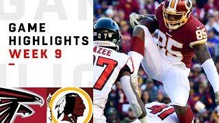 Falcons vs. Redskins Week 9 Highlights | NFL 2018