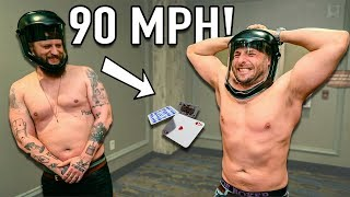 HIT by a 90 MPH Playing Card!!
