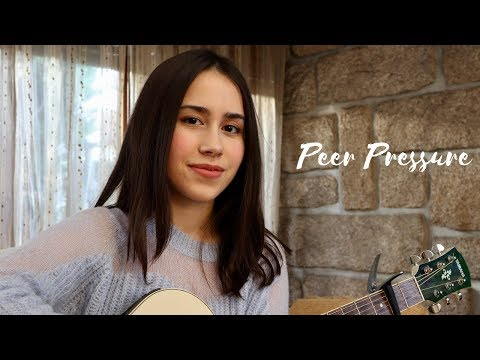 James Bay - Peer Pressure Ft. Julia Michaels (acoustic Cover By Maria Fernandes)