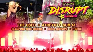 The Used, Atreyu, Sum 41 & More - Rockstar Energy Disrupt Festival (HD - 2019) Live Music Vlog #7