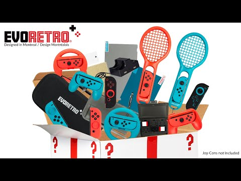 Unboxing the Ultimate Accessories Bundle for Nintendo Switch - 21 in 1 from Evoretro