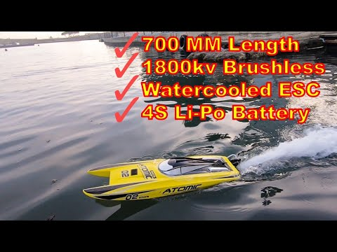 PRICE & PERFORMANCE High Speed Brushless RC Boat Test - Volantex Atomic V792