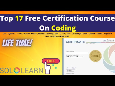 Top 17 Free Certification Courses On Coding Offered By SoloLearn ...