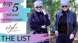 the list   top 5 must have coats and jackets for fall and winter   style over 50 (repost)