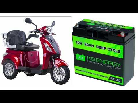 Die neue LiFePo4 Batterie 12V20Ah für Elektroroller.