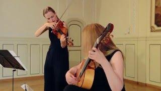 Paganini : Sonata concertata Duo Luminoso ( Laura Zarina, Heike Matthiesen)