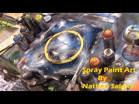 Dream Catcher - Spray Paint Art by Nathan Salmon - Moncton Market, NB 2015