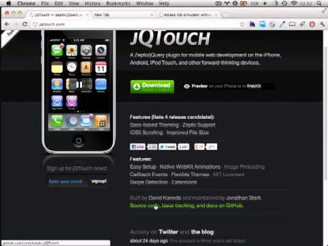 JQTouch - An Introduction