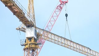 Tower crane #3 rises: Time-lapse compilation of assembly from start to finish