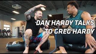 Dan Hardy Talks To Greg Hardy Whilst Visiting American Top Team