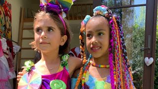 Kim And Kourtney Kardashian Throw Candy Land-Themed Birthday Bash For North And Penelope