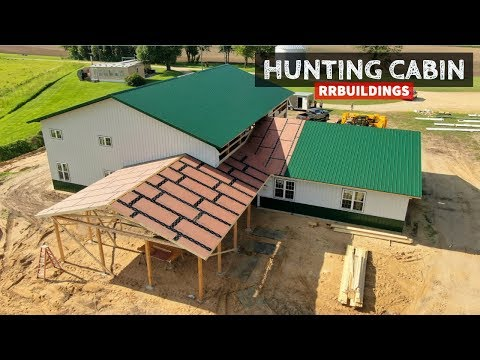 Building a Hunting Cabin 15: Over Framing a Valley on A Roof