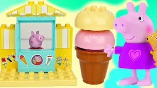 PEPPA PIG Ice Cream Shop Construction Set with George Pig