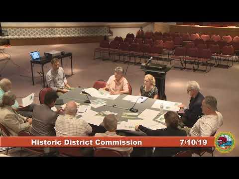 Historic District Commission 7.10.19