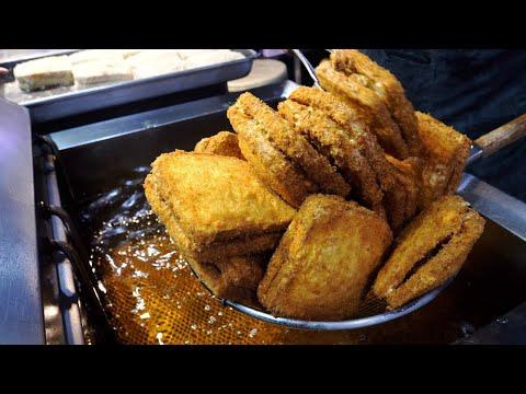 Crispy Freshly Fried Croquettes, Twisted Doughnut   Korean Street food